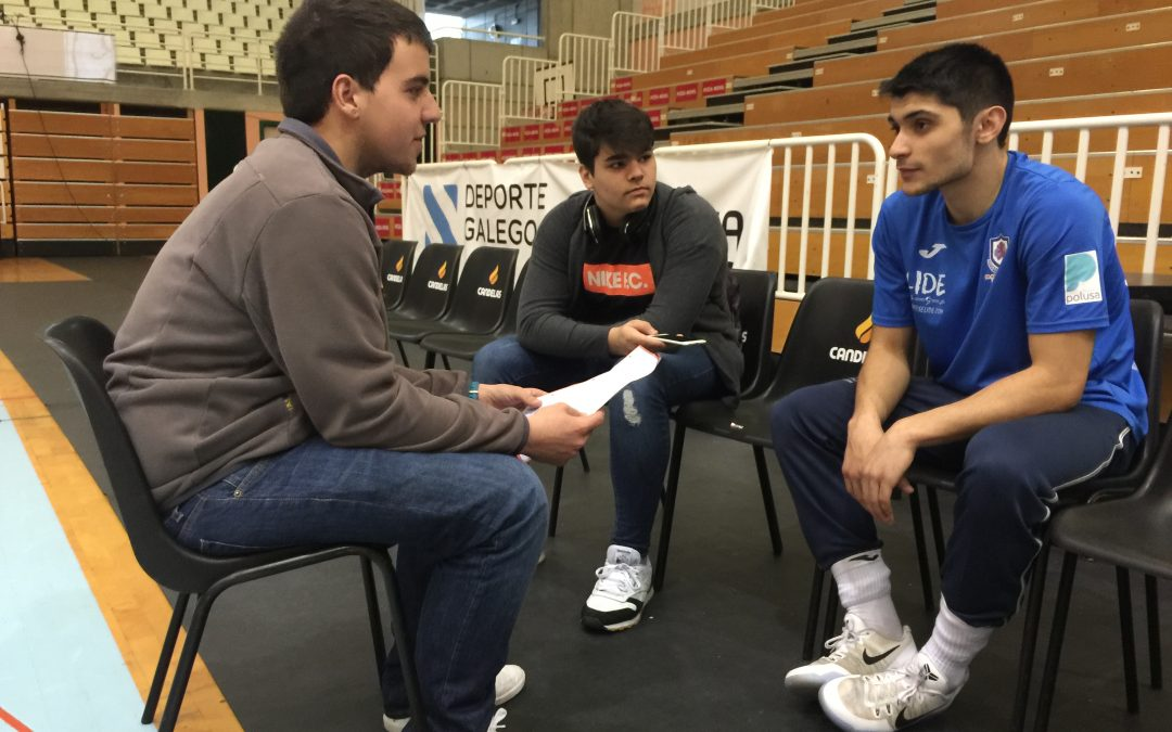 28/04/17, Entrevista a Sergi Quintela, xogador do Breogán CB; Por Adriá Maldonado e Bret Fernández
