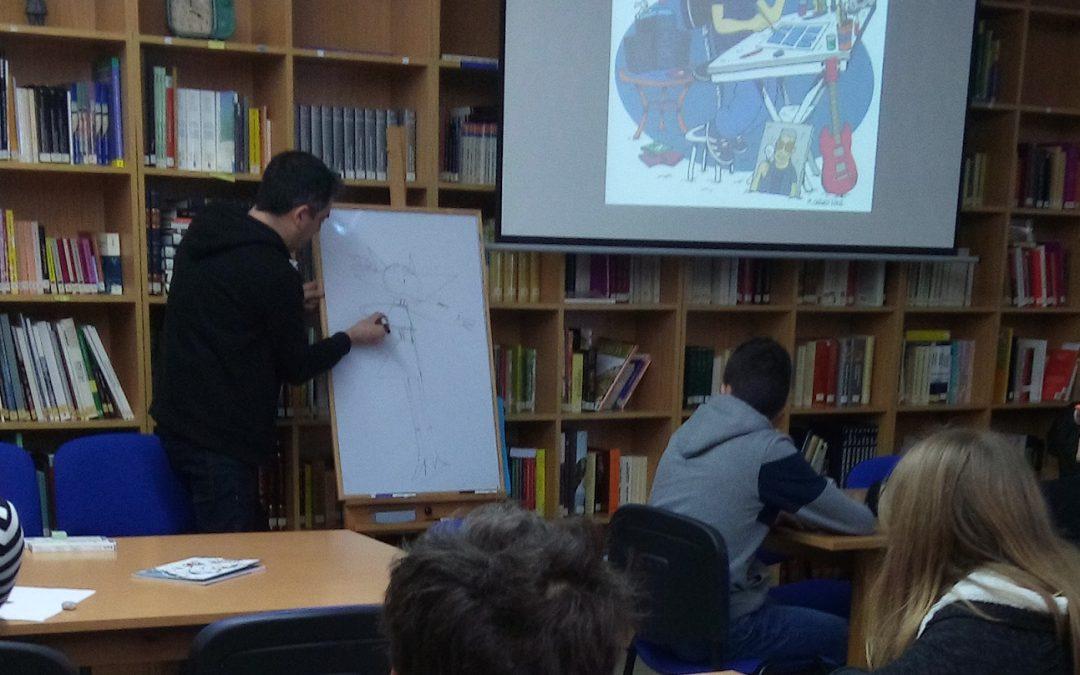 """""""Non é necesario ser un gran debuxante para ser un bo autor de cómic"""" por Ariadna del Pont, Mario González e Carlos González (4º ESO)"""